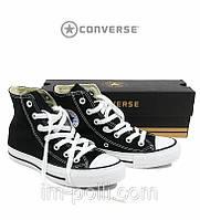 Мужские кеды Converse black (черные)