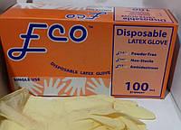 Перчатки латексные одноразовые FCO (50 пар/упаковка)