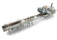 Горизонтальная упаковочная машина QP-X-1B  с роликовым транспортером-питателем
