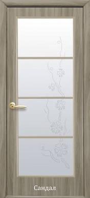 Двери МДФ Виктория стекло с рисунком Р4 экошпон