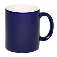 Чашка керамическая синяя