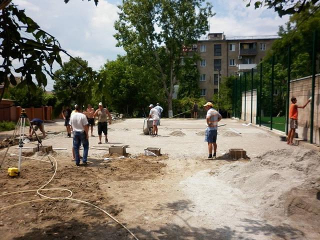 Строительство спорт площадки 4