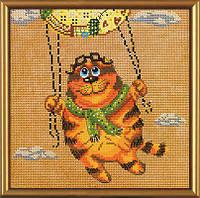 """Набор для вышивания нитками и бисером """"На воздушном шаре"""", 20*20см(ННД5544)"""
