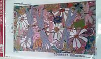 """Ткань с нанесенным рисунком-схемой (атлас) """"Ромашковое поле"""", 45*26см.,  для вышивания бисером,(БИС6164)"""