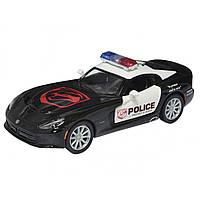 Машина металева SRT Viper GTS Police Kinsmart в коробці KT-5363-WP