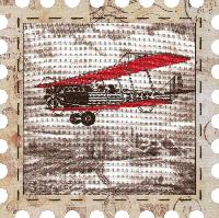 """Набор для вышивания нитками """"Самолет"""" на фоновой канве, с рамочкой в компл., р 24*24см(КО4015-У)"""
