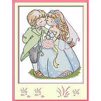 """Набор для вышивания крестиком Детский """"Свадьба"""", в пак.25*28см, 14СТ(K565)"""