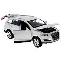 Машина металева на батарейці Audi Q7 Автопром звук, світло, відчиняються двері, в коробці 68249A