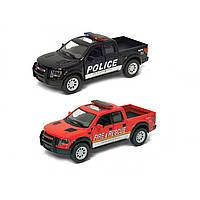 Машина металева Ford F-150 SVT Police/Fire Kinsmart в коробці KT-5365-WPR