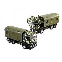 Машина металева на батарейці Scania Військова Автопром звук, світло, відчиняються двері, в коробці 22х12,5х9см 5005
