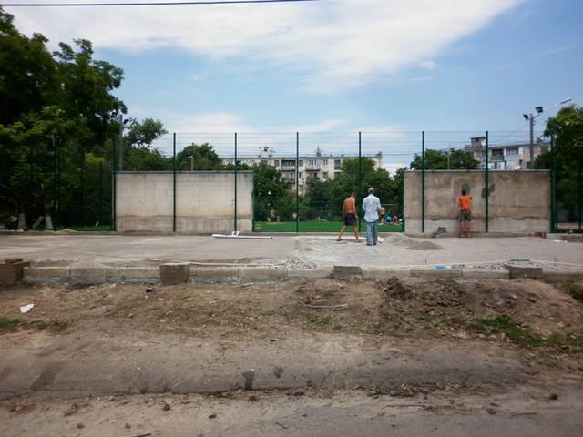 Строительство спорт площадки 6