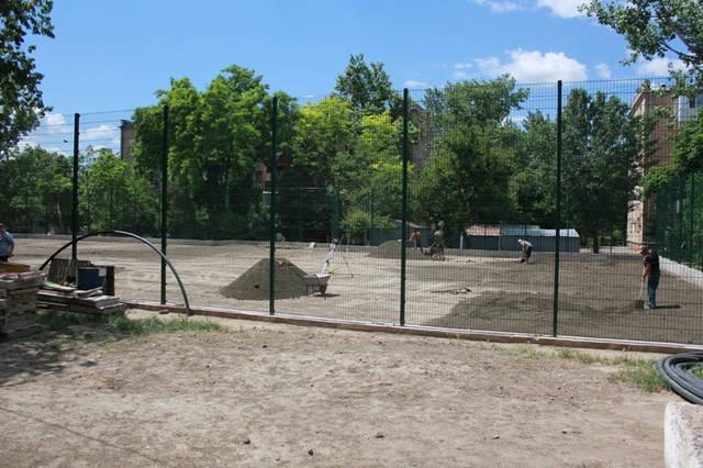 Строительство спорт площадки 7