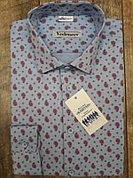 Рубашка голубого цвета в красный огурец