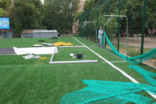 Строительство спорт площадки 11