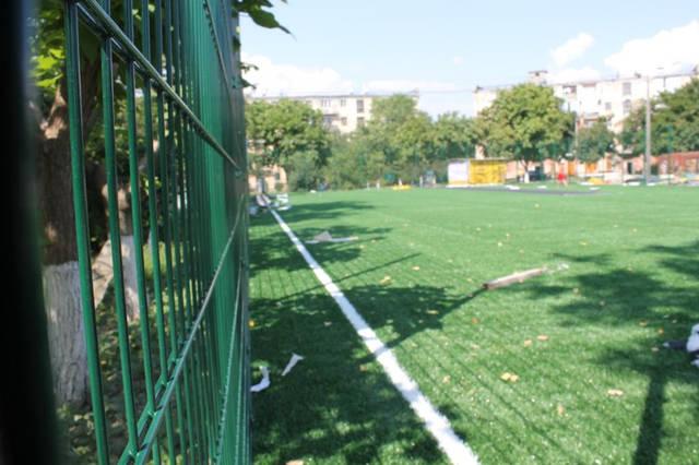 Строительство спорт площадки 12