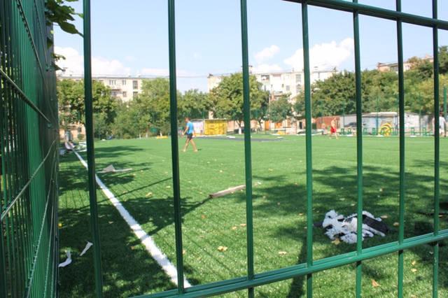 Строительство спорт площадки 13