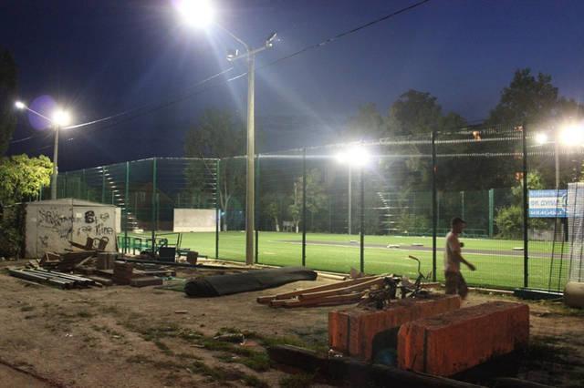 Строительство спорт площадки 18