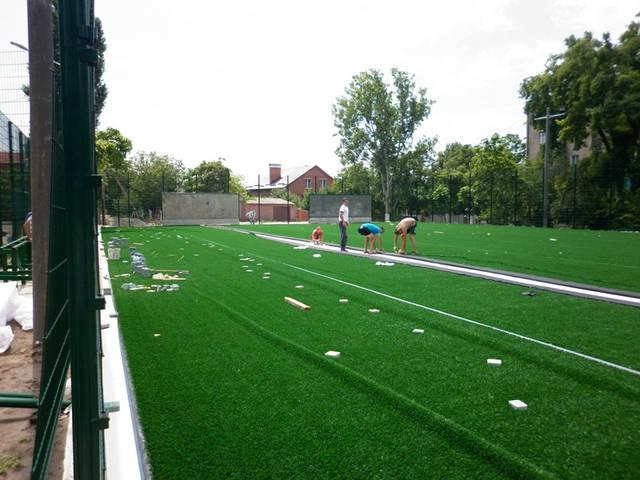 Строительство спорт площадки 22