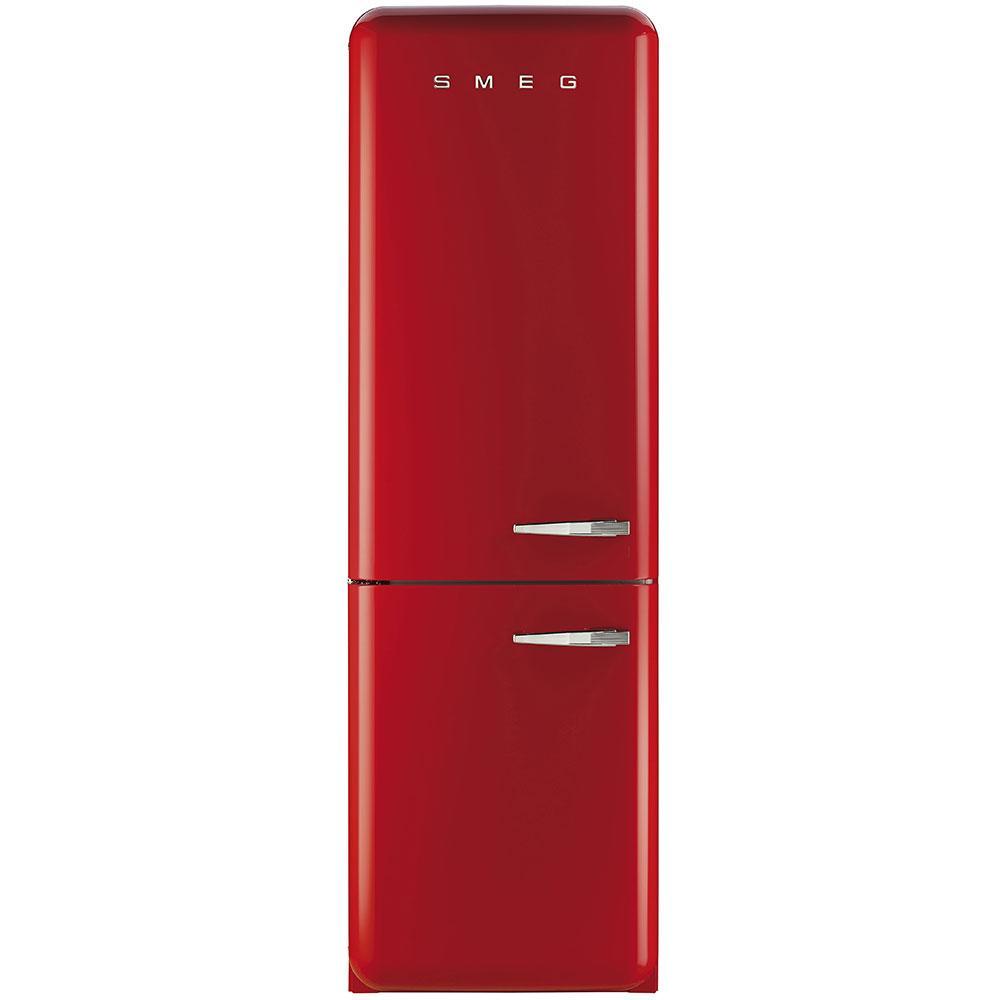 Отдельностоящий двухдверный холодильник, стиль 50-х годов Smeg FAB32LRD3 красный