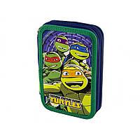 """Пенал """"1 Вересня"""" Turtles твердий , подвійний. 20 х13,5 х4 см №531386"""