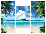 Модульная картина пальмы и вода
