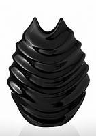 Ваза керамическая Изгиб черная 30 см Код:113359