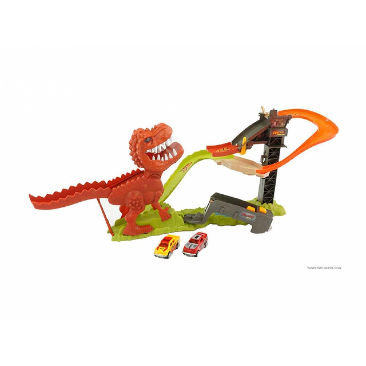 Трек 2 машинки, динозавр, в коробці 49х33х8,5см 8899-91