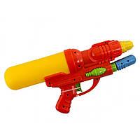 Пістолет водяний 32 см, з насосом, в кульку, 18 х40 см, 3 кольоровий (60) (120) КІ №707
