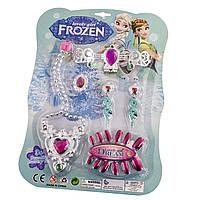Набір аксесуарів для дівчаток: намисто,сережки,браслет,накладні нігті,на планшеті,22,5х31х2,5см №KY015-3(240)