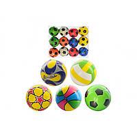 М'яч фомовий 6,35 см, в кульук, 24 х18х6см 5 видів (12) (360) №MS0388