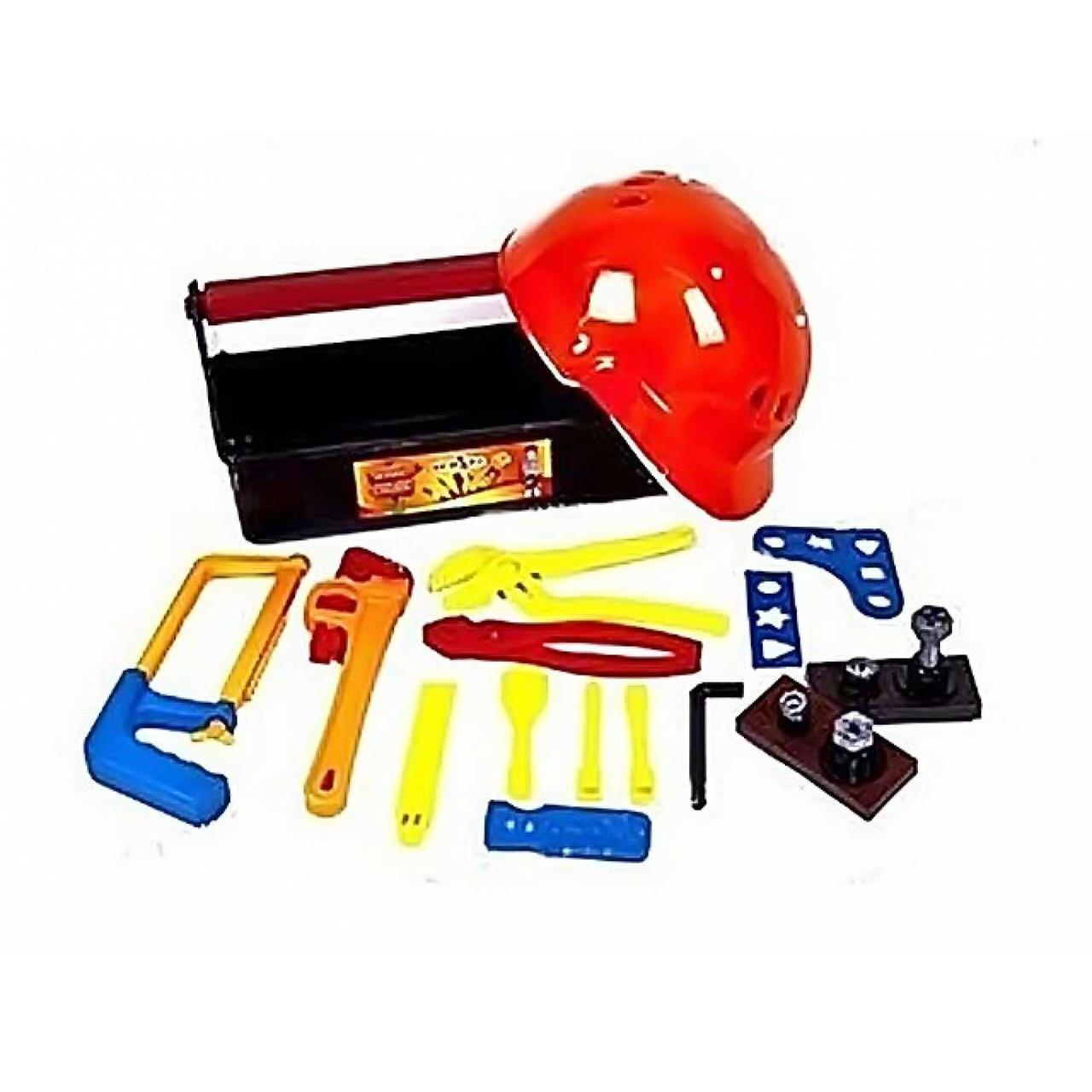 """Набір інструментів """"Юний слюсар"""" Kinder Way 31-005 23 предмети, каска в валізі"""