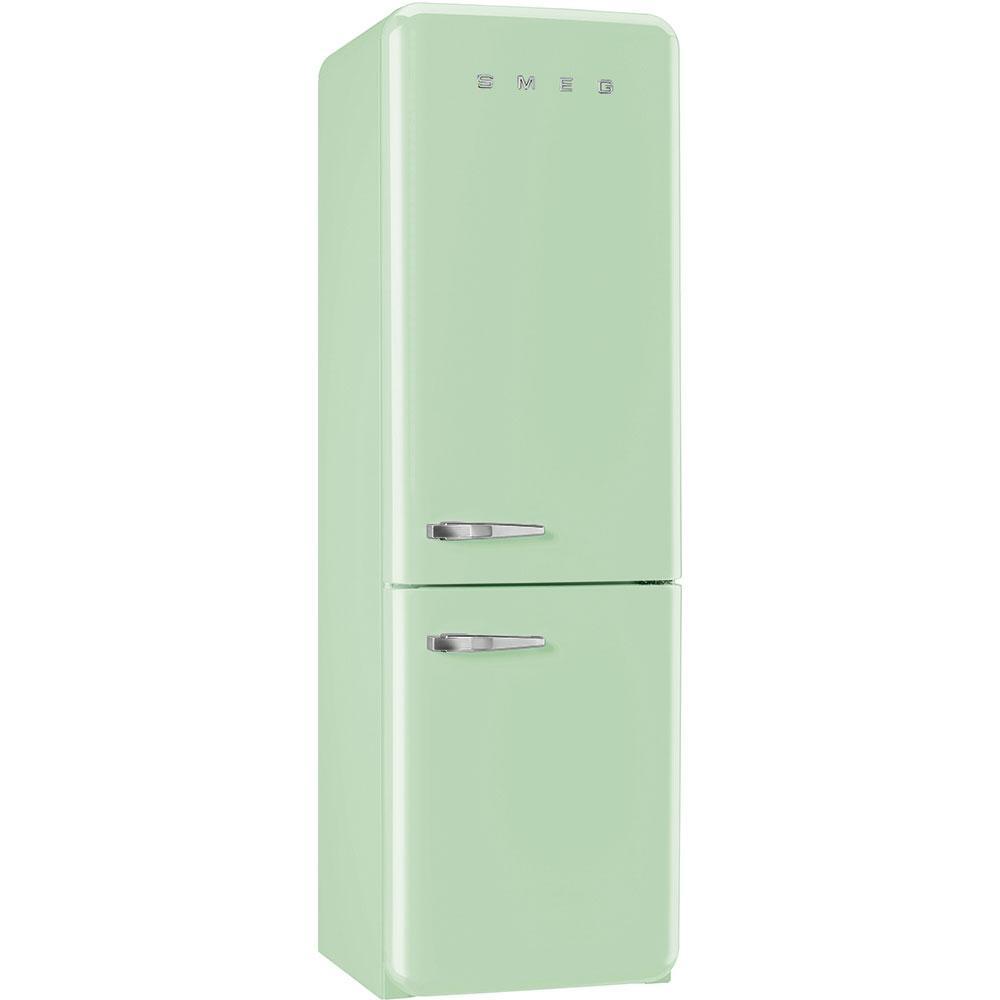 Отдельностоящий двухдверный холодильник, стиль 50-х годов Smeg FAB32RPG3 пастельно - зеленый (бирюзовый)