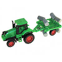 Трактор інер-ий в слюді, 24х8х7см,6 видів №4018-40(144) КІ
