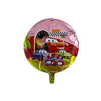 """Кулька повітряна фольгована """"Тачки"""" кругла"""