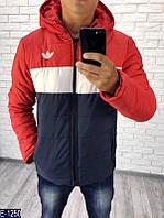 Куртка красно-бело-синяя