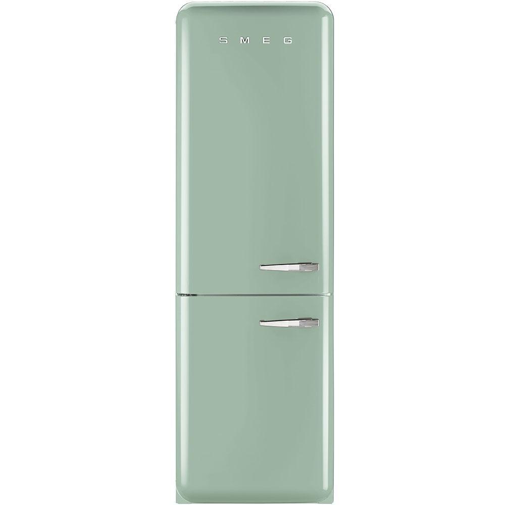 Отдельностоящий двухдверный холодильник, стиль 50-х годов Smeg FAB32LPG3 пастельно - зеленый (бирюзовый)