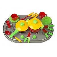 Плита Kinder Way 04-409 мийка, посуд у коробці