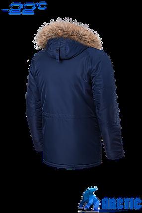 Мужская темно-синяя зимняя куртка с мехом Braggart (р. 48-58) арт. 4137S, фото 2