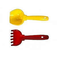 """Пісочний набір """"М"""" Kinder Way лопатка, граблі 01-110"""