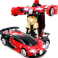 Трансформер робот радиоуправляемый автобот красный