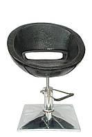 Кресло парикмахерское Лак чёрное