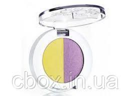 "Тени для век ""Цветные фантазии"" Avon Color Trend, цвет Violetta, Фиалка Монмартра, Эйвон, 2-х цветная палитра"