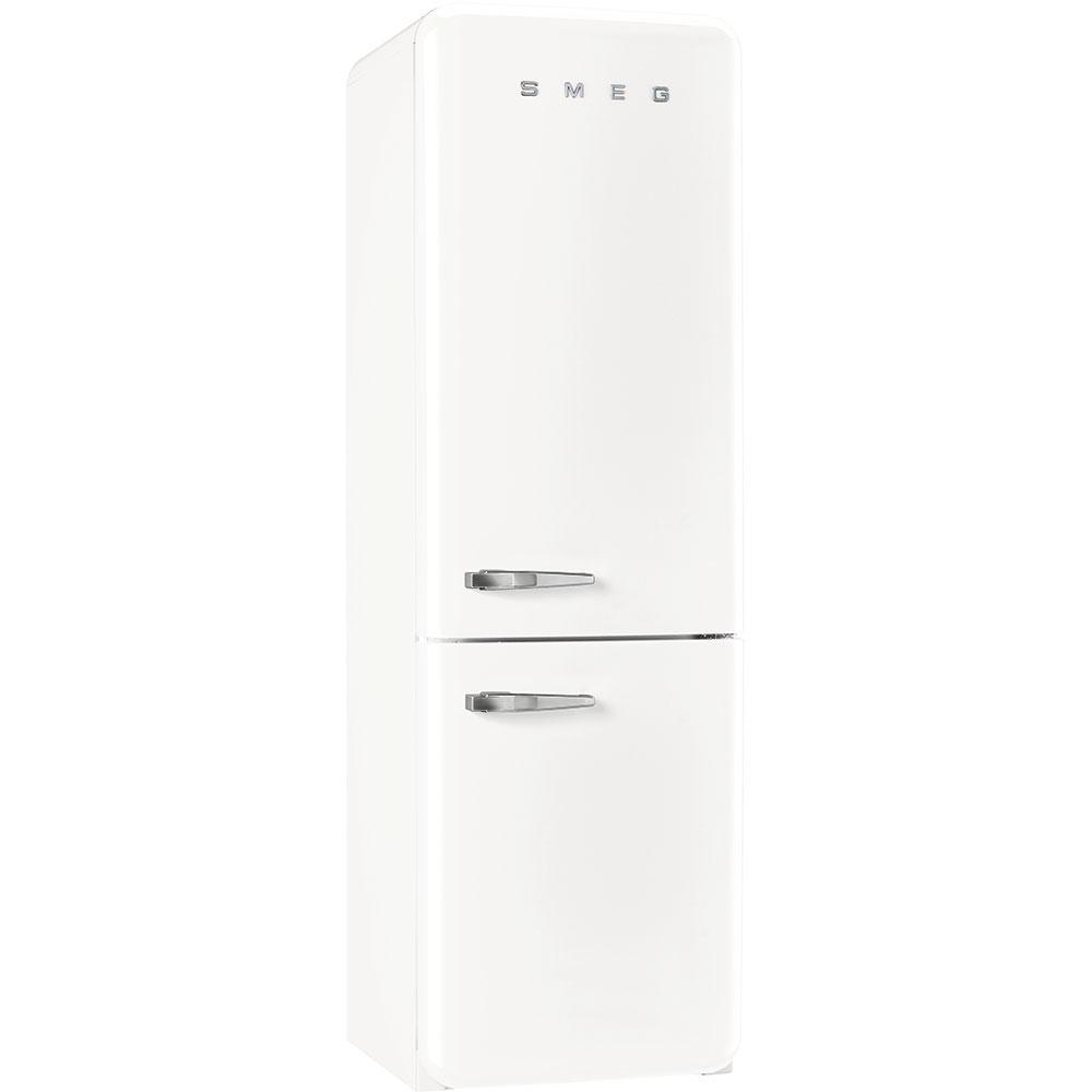 Окремостоячий дводверний холодильник, стиль 50-х років Smeg FAB32RWH3 білий