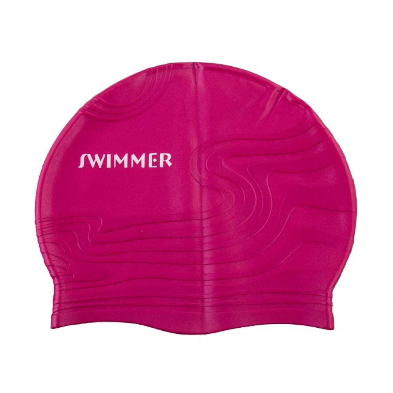 Шапочка для плавання 21,5 х18,5 см, 5 кольорів, в кульку 28 х11 см (144) №MSW013