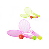 Набір для настільний теніс дитячий: 2 ракетки, пластикові, м'ячик, в кульку, 2 кольори, 19,5х8х2,5 см MS0715 (600)