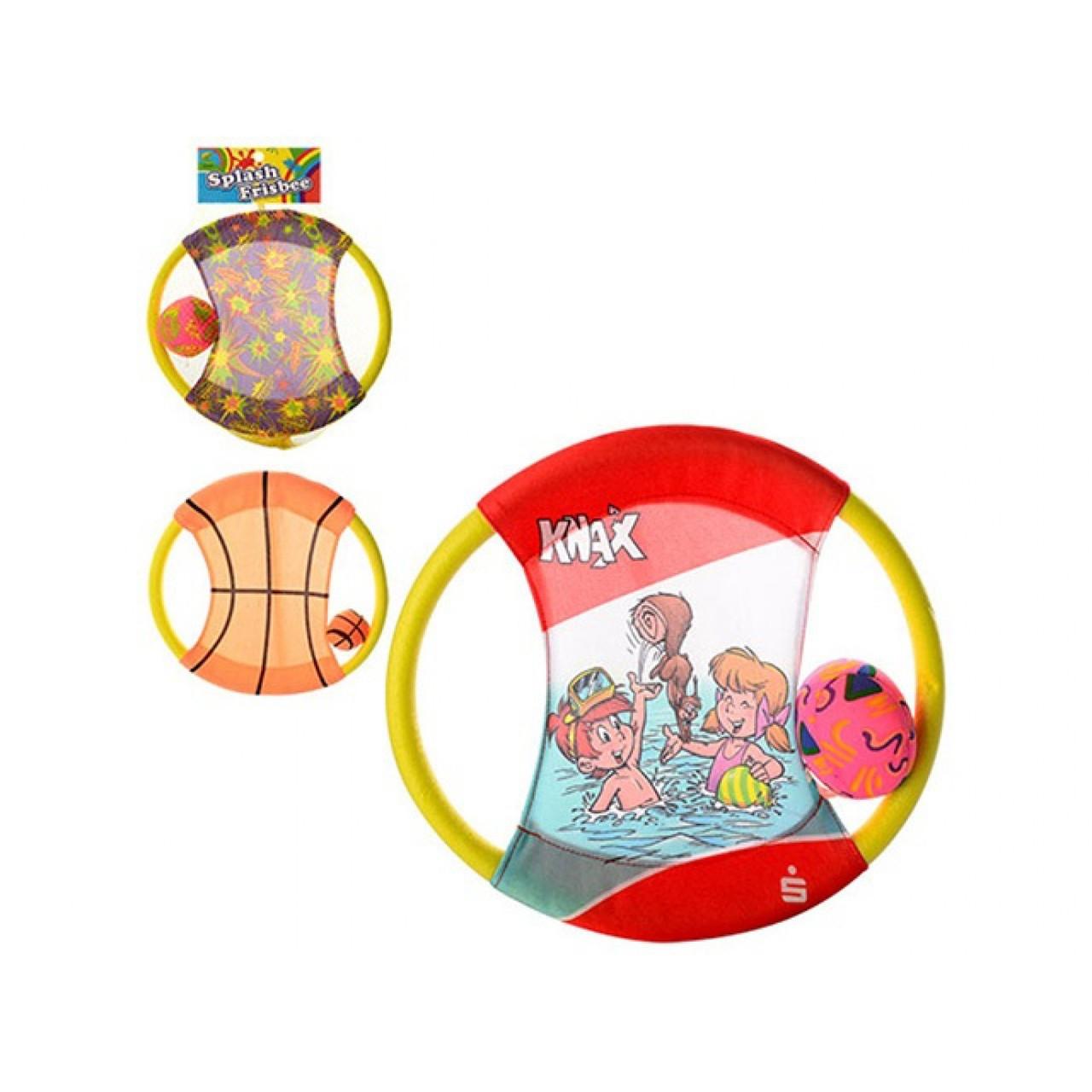 Літаючий диск 27 см, м'яч, 3 види, в сітці 27 х27х1,5 см (100) №M3012