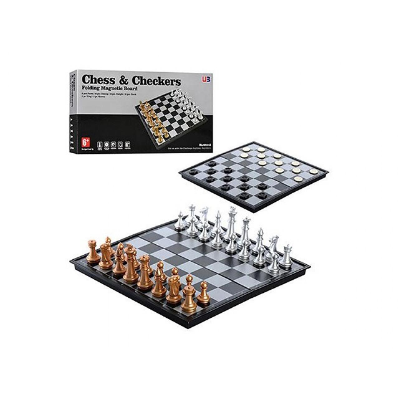 Шахи 2в1,в кор-ці,36х18,5х4,5см №4912А(24)