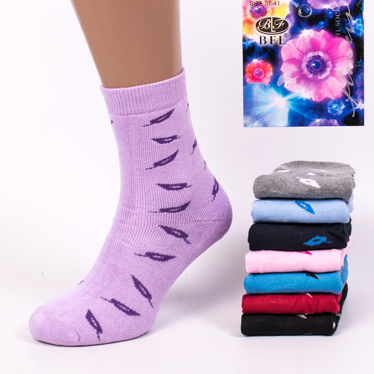 Махровые женские носки BFL B262. В упаковке 12 пар