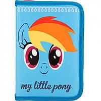 """Пенал """"Kite"""" Little Pony-1 1 відділення, без наповнення, з 2 відворотами (36) №LP17-622-1"""