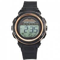 Часы с солнечной панелью Skmei Мод.DG1096, коричневые, в металлическом боксе